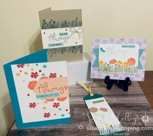 3 CHEERFUL COLORFUL CARDS (and a bookmark) FOR MOTHER'S DAY!