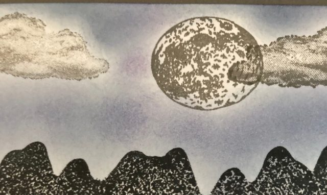 Moon image from Mountain Air stamp set