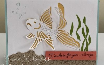 3D Goldfish Card