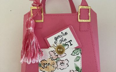 A Super Cute Purse Treat holder made with All Dressed Up Dies!