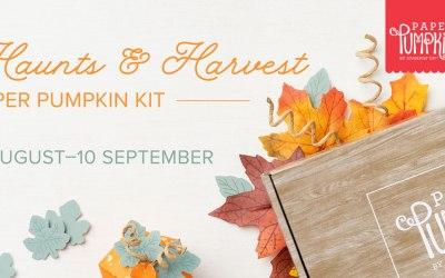 HAUNTS & HARVEST PAPER PUMPKIN KIT –  SUBSCRIBE NOW THROUGH SEPTEMBER 10