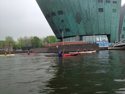 Kayaking the North Sea Canal