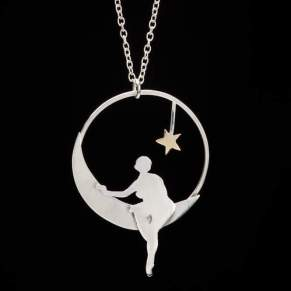 Girl on the Moon Pendant - Megan Adair, Edinburgh