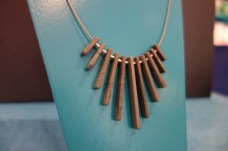 Slate & Silver Fringe Necklace