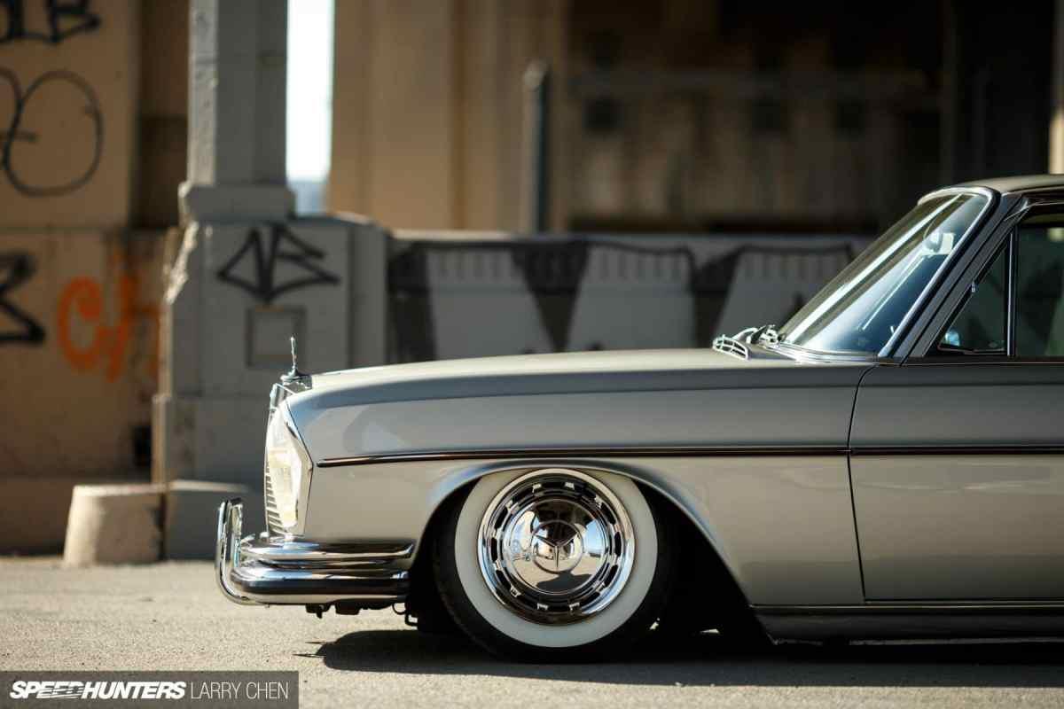 The Perfect Benz Cruiser: Slammed W108