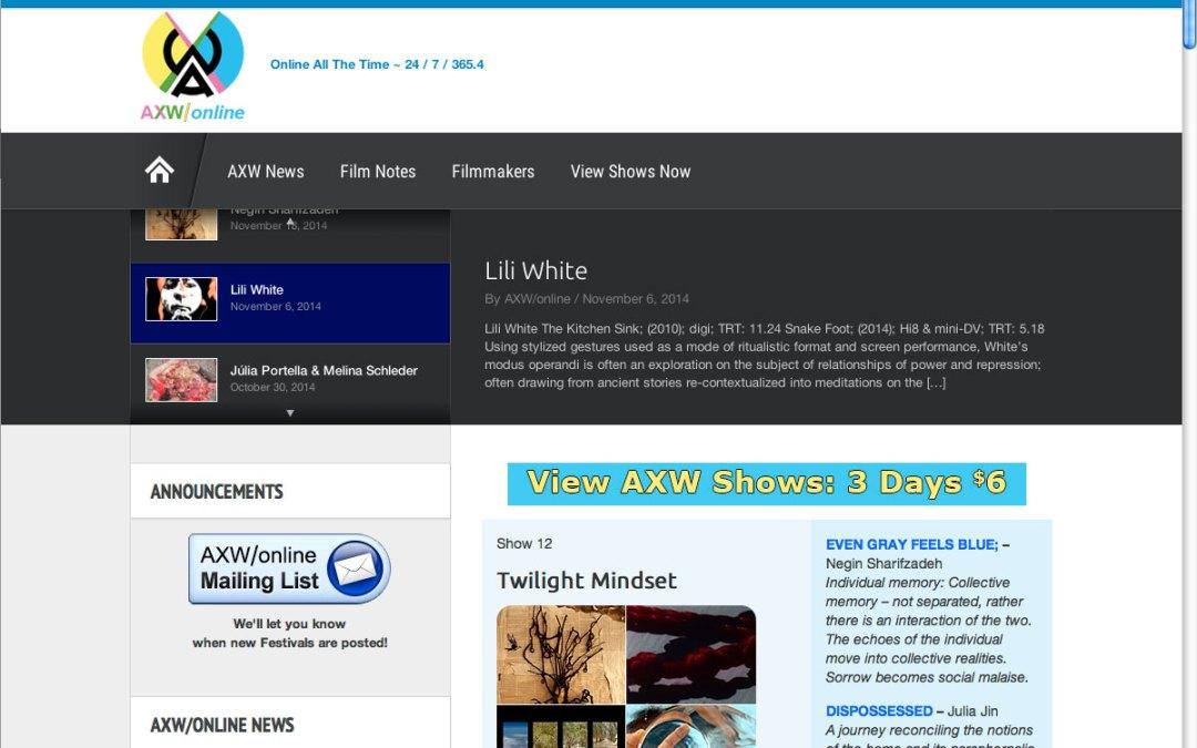 AXW/online Film Festival