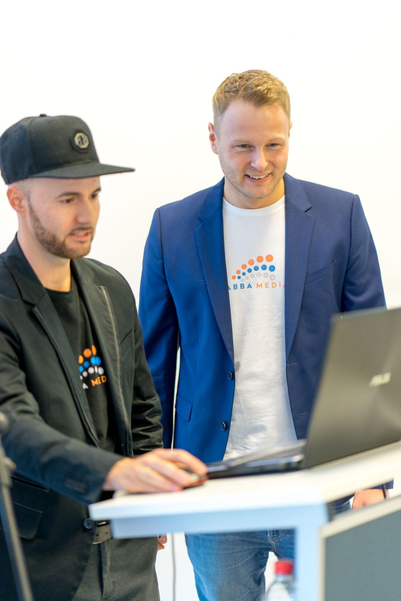 Stefan Beier und Daniel Hauber auf dem Babba Business Day 2019 in Großostheim