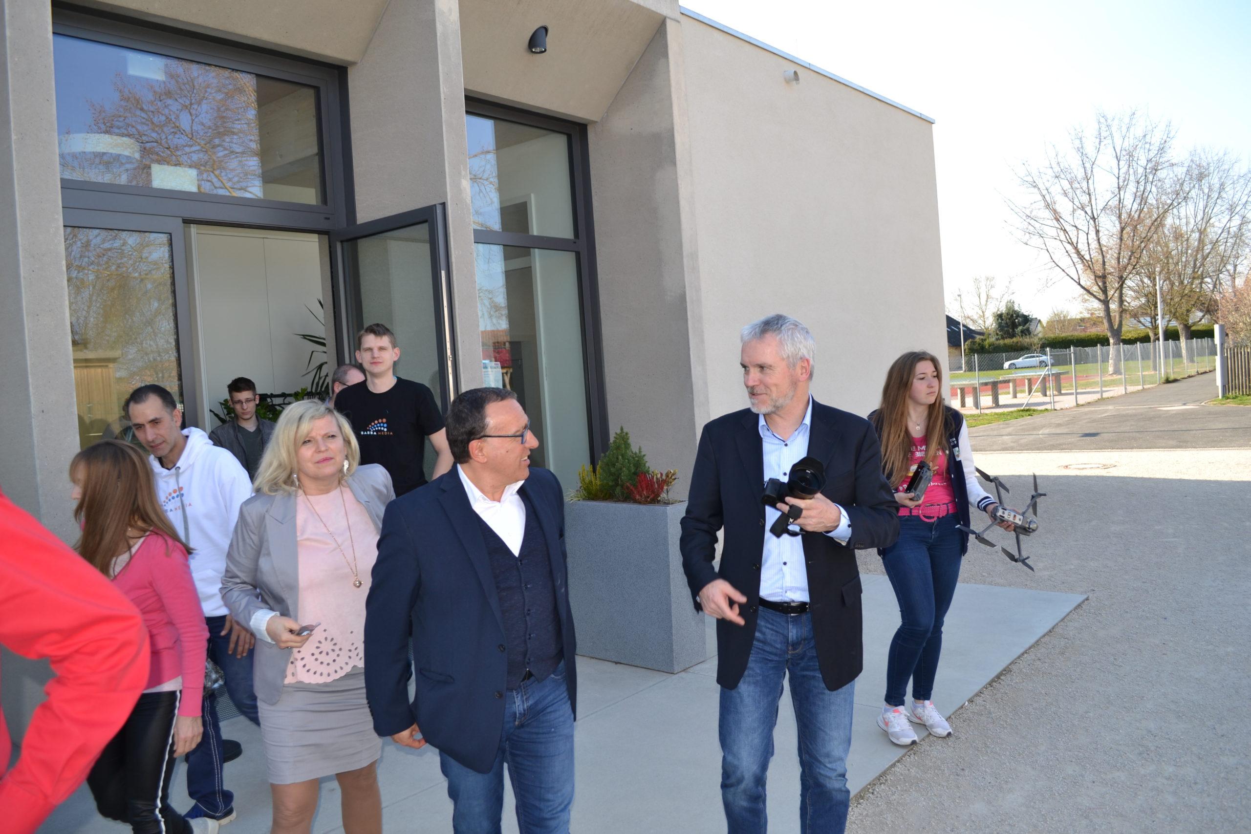 Peter Oertwig, Martin Hillenbrand, Mario Höhn und Svend Krumnacker auf dem Babba Business Day 2019 in Großostheim