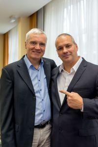 Svend Krumnacker und Erick Salgado (CEO Builderall) auf dem Builderall Everest 2018 in Nürnberg (Germany)