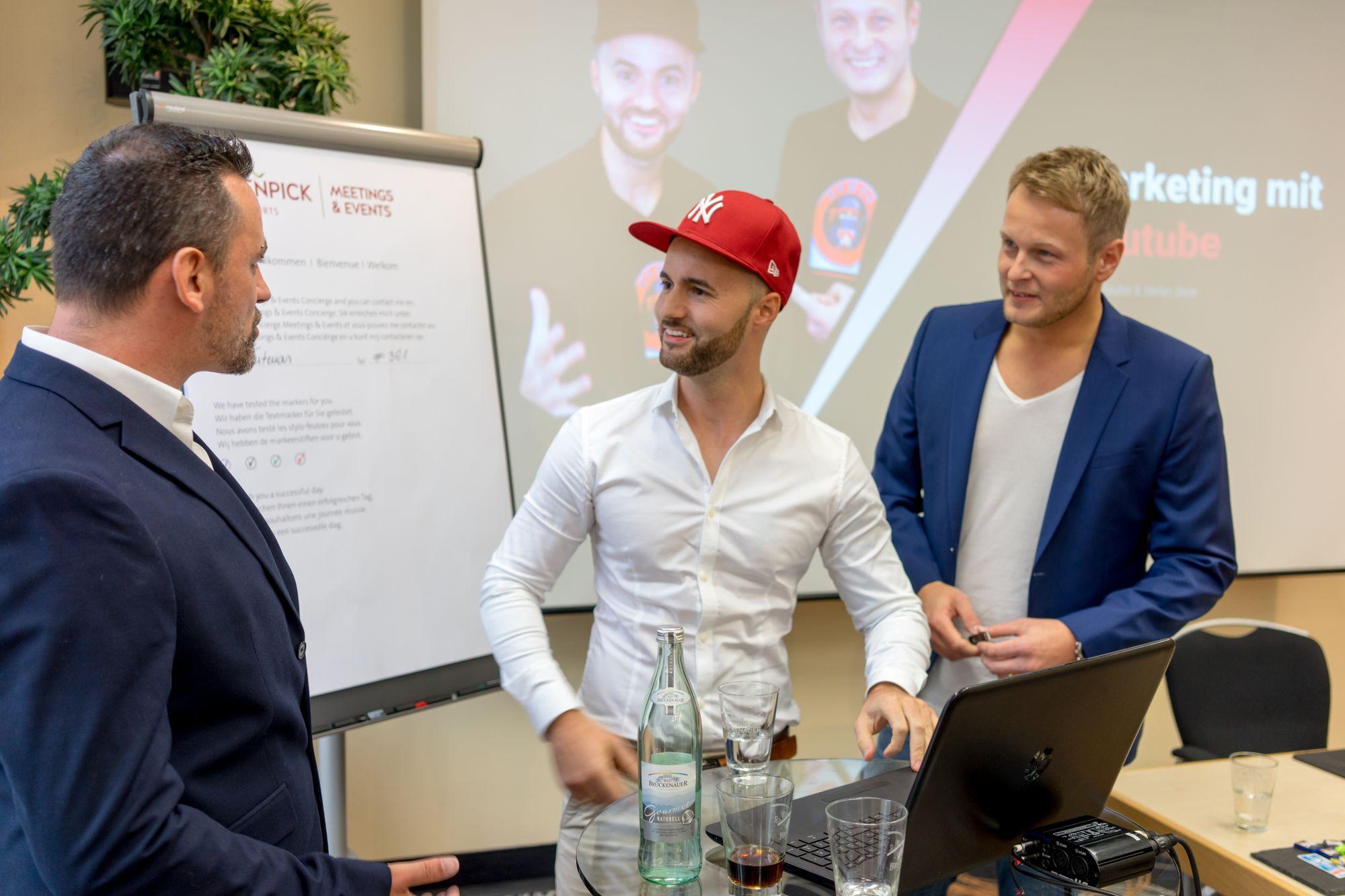 Marco Vantroba, Daniel Hauber und Stefan Beier auf dem Builderall Everest 2018 in Nürnberg (Germany)