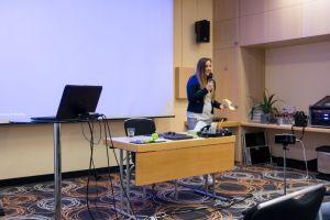 Astrid Harzendorf als Sprecher auf dem Builderall Everest 2018 in Nürnberg (Germany)