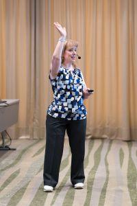 Shelly Turner (Builderall Diva) aus den USA als Sprecher auf dem Builderall Everest 2019 in Nürnberg (Germany)