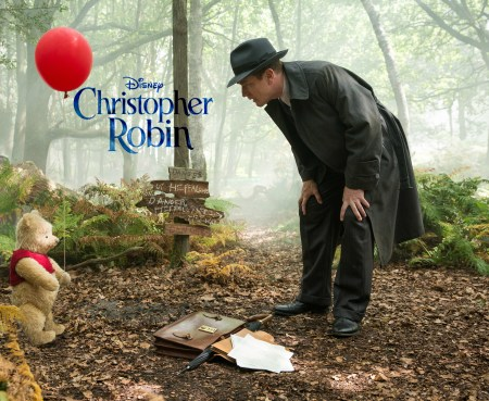 Christopher Robin (Ewan McGregor) with his longtime friend Winnie the Pooh in Disney's live-action adventure CHRISTOPHER ROBIN.