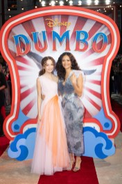 Nico Parker and Thandie Newton attend the European Premiere of Disney's ÒDumboÓ on February 27, 2019 in London, UK