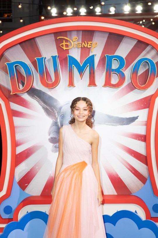 Nico Parker attends the European Premiere of Disney's ÒDumboÓ on February 27, 2019 in London, UK