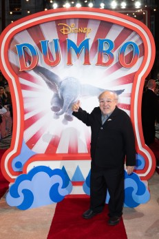 Danny DeVito attends the European Premiere of Disney's ÒDumboÓ on February 27, 2019 in London, UK