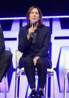 """CHICAGO, IL - APRIL 12: Producer Kathleen Kennedy onstage during """"The Rise of Skywalker"""" panel at the Star Wars Celebration at McCormick Place Convention Center on April 12, 2019 in Chicago, Illinois. (Photo by Daniel Boczarski/Getty Images for Disney ) *** Local Caption *** Kathleen Kennedy"""