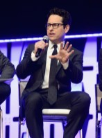 """CHICAGO, IL - APRIL 12: Director J.J. Abrams onstage during """"The Rise of Skywalker"""" panel at the Star Wars Celebration at McCormick Place Convention Center on April 12, 2019 in Chicago, Illinois. (Photo by Daniel Boczarski/Getty Images for Disney ) *** Local Caption *** J.J. Abrams"""