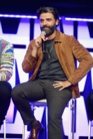 """CHICAGO, IL - APRIL 12: Oscar Isaac (Poe Dameron) onstage during """"The Rise of Skywalker"""" panel at the Star Wars Celebration at McCormick Place Convention Center on April 12, 2019 in Chicago, Illinois. (Photo by Daniel Boczarski/Getty Images for Disney ) *** Local Caption *** Oscar Isaac"""