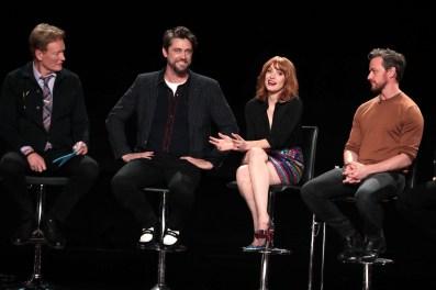 Conan O'Brien, Andy Muschietti, Director, Jessica Chastain, James McAvoy