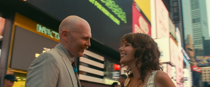 (from left) Ray Bishop (Bill Burr) and Margie Carlin (Marisa Tomei) in The King of Staten Island, directed by Judd Apatow.