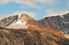Iron blush on mountain slope
