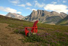 Parks Canada wants us to advertise remote places with these decorative chairs. You're welcome, Parks Canada.
