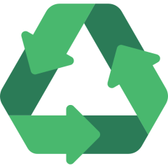 Recycling logo.
