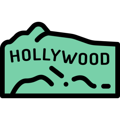 Icon of Hollywood sign.