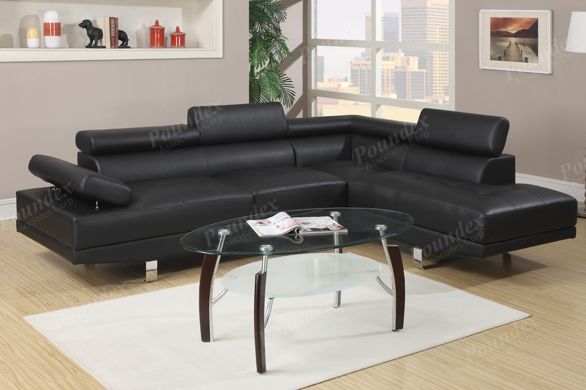 2 Pcs Sectional Sofa F7550 4 Colors Silver State Furniture