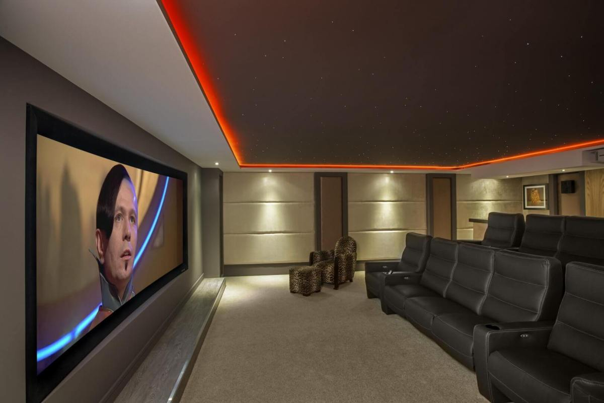 Home cinema star ceiling large