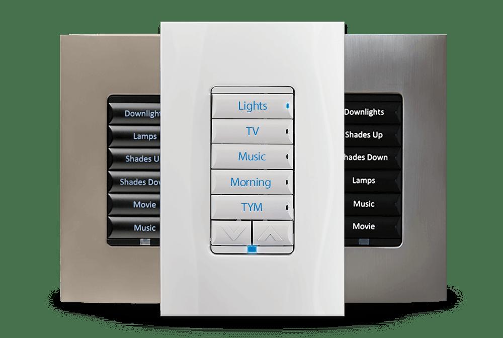 smart home light control keypad custom engraved backlit