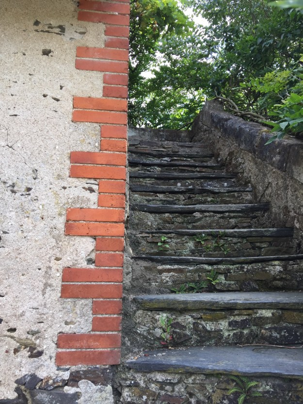 Stairs to the rooftop granary
