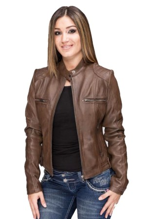 Women's Leather Jacket Stylish Super Soft And Fitted Jacket