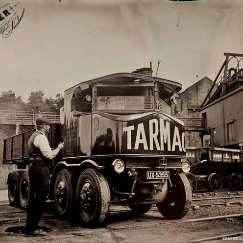 Tarmac Sentinel Steam Wagon Tintype - Power from the Past at Beamish Museum, September 2014.