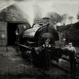 Outside Marley Hill Engine Shed