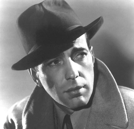 Humphrey Bogart wearing a fedora