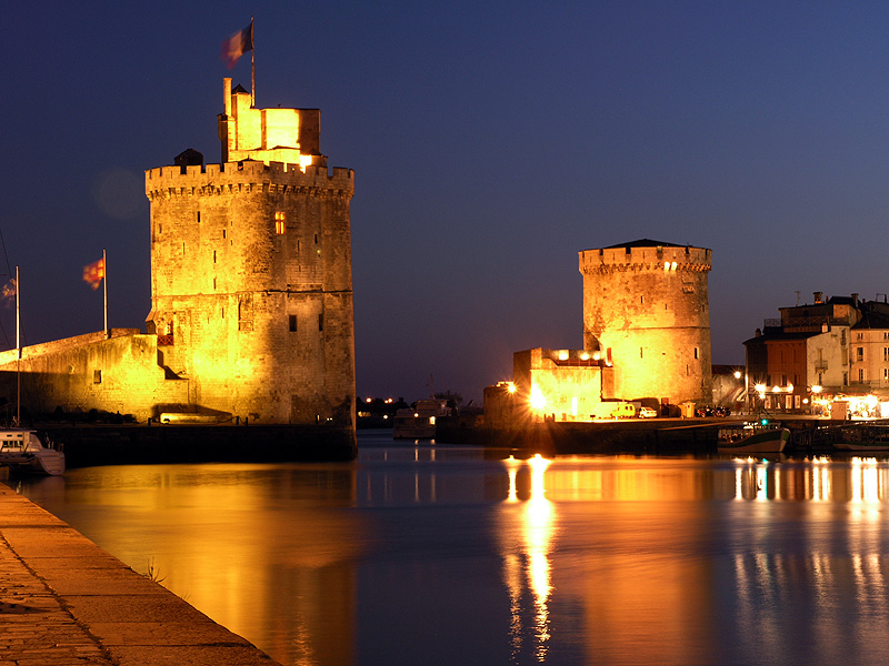 La Rochelle Harbour At Night