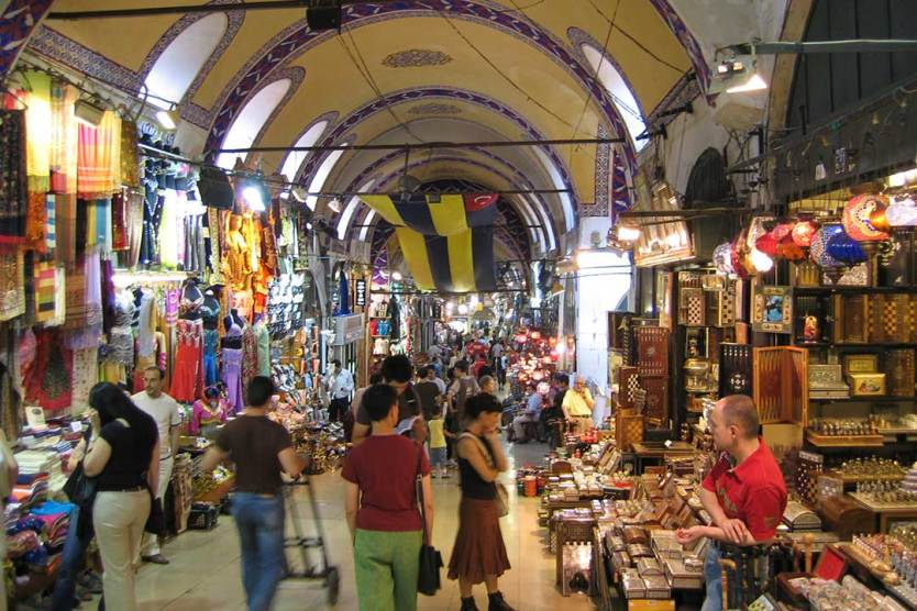 The Grand Bazaar in Istanbul