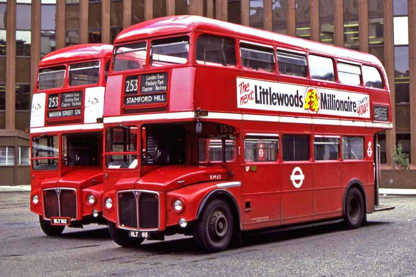 Route Master Buses in London