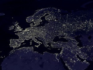 The Night Lights of Europe (as seen from space) by woodleywonderworks (cc) (from flickr)
