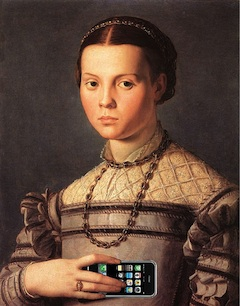 Portrait of a Young Girl With an iPhone, after Agnolo Bronzino by Mike Licht,...  (cc) (From Flickr)