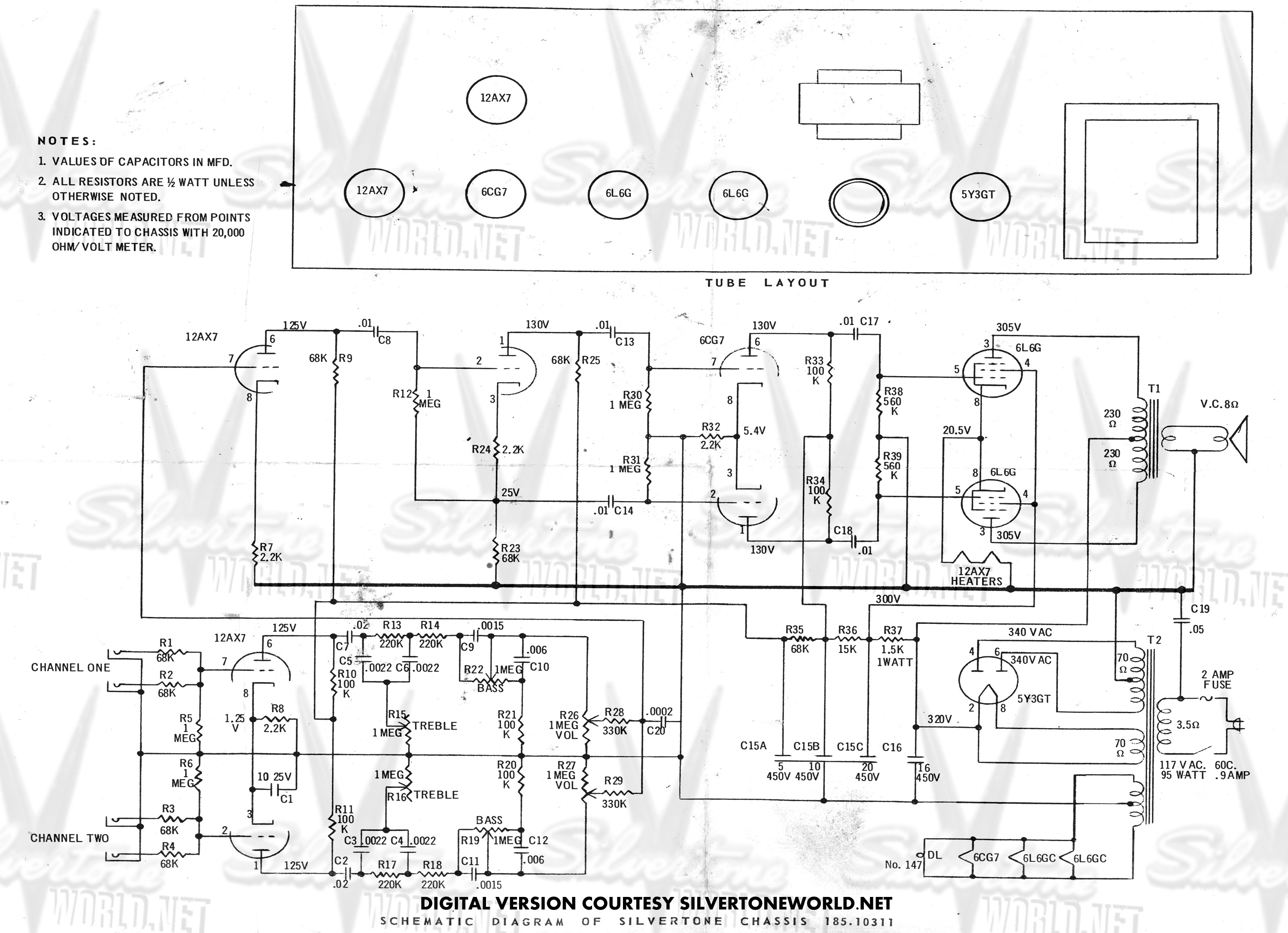Harmony Guitar Wiring Diagrams 2 Pickups Guitar Schematics