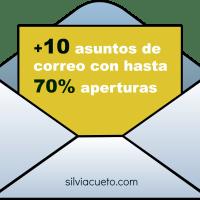 +10 mejores  asuntos de email con hasta el 70% de apertura #infografía