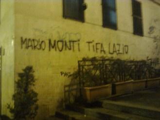 roma, monti, mario monti tifa lazio