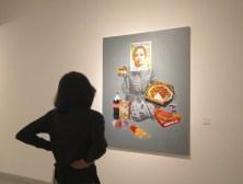 """Pameran tunggal Triyadi Guntur Wiratomo,""""Between The Line"""", yang diadakan Rachel Gallery di Galeri Nasional Indonesia, Jakarta, 11—23 April 2017. (Foto: Silvia Galikano)"""