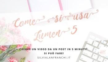 Titolo post lumen5 tutorial