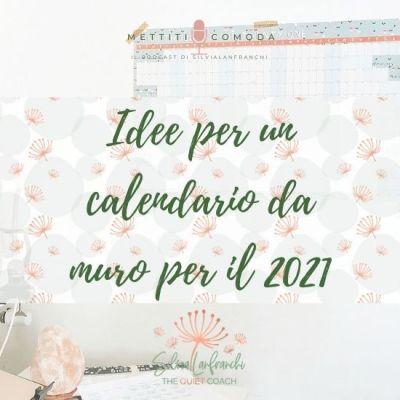 Idee per un calendario annuale da muro