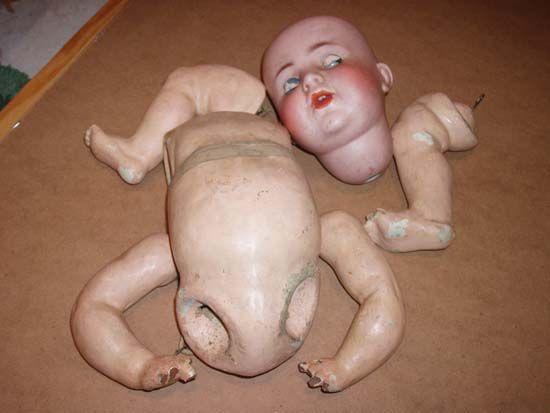 restauración de muñeco