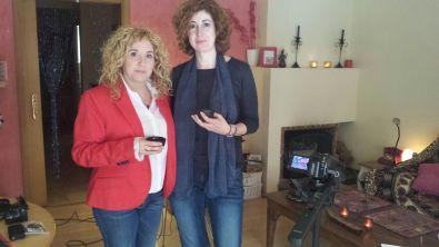 En casa de Maite Bayona, antes de la entrevista para Frente al Espejo